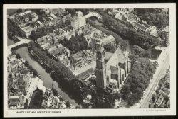 Luchtfoto van de Westertoren op de Westermarkt