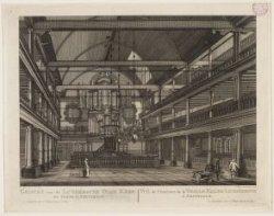 Gezicht van de Luthersche Oude Kerk, van binnen, te Amsterdam