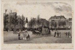 De Botermarkt, na 1876 Rembrandtplein  in zuidwestelijke richting gezien
