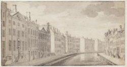 """De """"gouden bocht"""" in de Herengracht gezien vanaf de brug in de Vijzelstraat in d…"""
