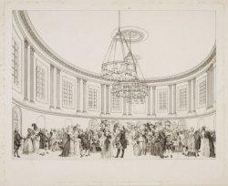 Muzyk Zaal in het gebouw der Maatschappyë Felix Meritis binnen Amsterdam
