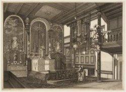 Het interieur van de rooms-katholieke kerk Geloof, Hoop en Liefde op Nieuwezijds…