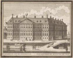 't Stadhuys van Amsterdam aan de achter zyde