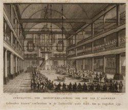 Vergadering van de Maatschappij Tot Nut van 't Algemeen in de Oude Lutherse Kerk