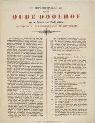 Beschrijving van het Oude Doolhof op de Gracht van Oud-Holland, voorheen op de P…