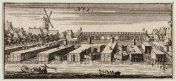 De Binnen Amstel, gezien naar de Amstelsluizen en de Hogesluis