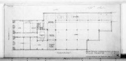 Ontwerptekeningen met aanzichten, plattegronden, doorsneden en silhouet; nr. 3