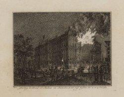 Afbeelding der Brand in ''t Stadhuis van Amsterdam, in den nagt tusschen den 12 …