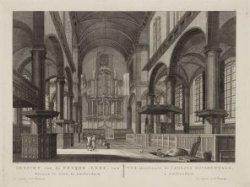 Gezicht van de Wester-Kerk, van Binnen te zien, te Amsterdam