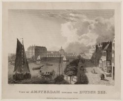 View of Amsterdam towards the Zuyder Zee