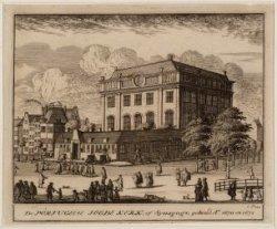 Portugees-Israëlitische Synagoge aan de Rapenburgerstraat 197 (huidige Mr. Visse…