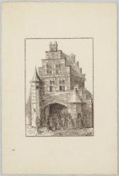 Stadspoort in het Oud-Hollands stadje op de Wereldtentoonstelling van het Hotel-…