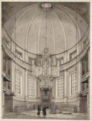 Ronde Lutherse Kerk. Het interieur van de Ronde Lutherse Kerk