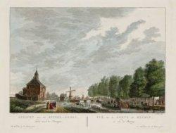Gezicht van de Muider-Poort, ziende naar de Plantagie