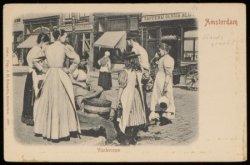 Elandsgracht, even zijde met visverkoopster die paling schoonmaakt. Uitgave J.H.…