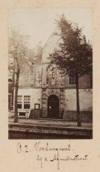 De Agnietenkapel aan de Oudezijds Voorburgwal 231. Half-stereofoto