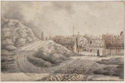 De Stadsasbelt bij de latere Lepelstraat  gezien t.h.v de latere Lepelkruisstraa…