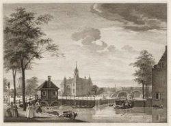 Gezicht na de Leydsche Poort te Amsterdam