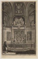 Het koor met het praalgraf van de Michiel de Ruyter in de Nieuwe Kerk. Techniek:…