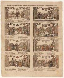 Afbeelding van de bruiloft van Kloris en Roosje, oud berugt klugtspel