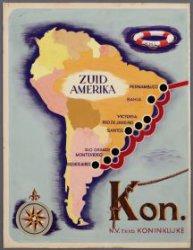 Koninklijke Hollandsche Lloyd Amsterdam scheepvaartverbinding met Zuid-Amerika