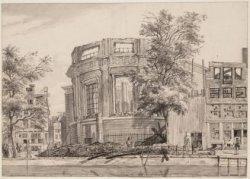 De ruïne van Ronde Lutherse Kerk