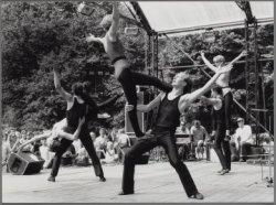 Vondelpark. Rock & roll uitvoering in het Openluchttheater