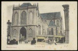 De Nieuwe Kerk aan de zijde van Nieuwezijds Voorburgwal 143. Uitgever: J.H. Scha…
