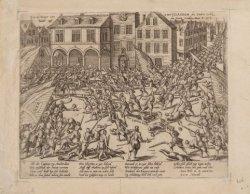 Gevecht op 23 november 1577 op de Dam tussen de Watergeuzen onder kolonel Hellin…