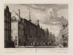 Gezicht van de Nieuwe Zyds-kapel, tot Amsterdam