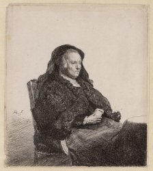 Portret van Neeltgen Willemsdr. van Zuytbrouck (1569-1640), moeder van Rembrandt…