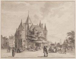 De St. Antonies Waag gezienvan de Zuidzijde