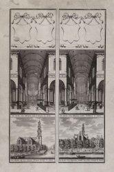 De Kerk van Binnen naa 't Orgel te Zien   De Kerk van Binnen nade Galdery te Zie…