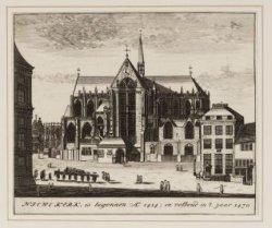 Niewe Kerk, is begonnen Ao. 1414; en volboud in ''t jaar 1470