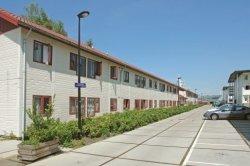 Gevleweg 100-115 (links, v.l.n.r.) met studentenwoningen