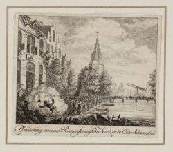 Plundering van een Remonstrantsche Kerk, op de Oude Schans, 1626