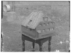 Maquette van de houten hulpkerk van de H. Willibrordus buiten de veste aan het R…