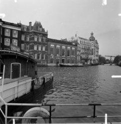 Nieuwe Doelenstraat 10 - 24, achtergevels gezien over de Amstel
