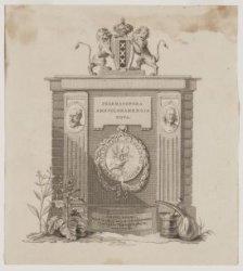 Frontispiece voor de Pharmacopoea Amstelodamensis Nova