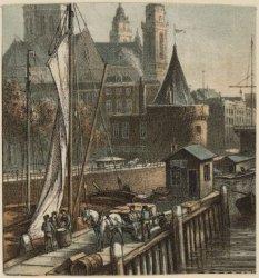 Gezicht op de Schreierstoren met St. Nicolaaskerk