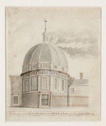 De brand in de Lutersche nieuwe Kerk 18 sept.1822 s'middags half twee