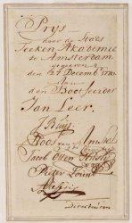 Afbeelding van een penning, als prijs van de Academie voor Tekenkunst, volgens b…