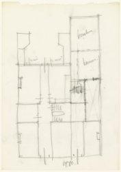 Herengracht 615-617. Woonhuis uit 1670. Schets plattegrond van de begane grond n…