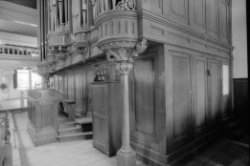 Singel 411, Oude Lutherse Kerk, detail van het orgel