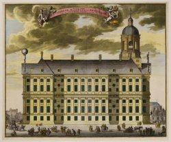 Afbeelding van het Uytstekend Raadhuys tot Amsteldam van de Zuyd Zyde aan te Zie…