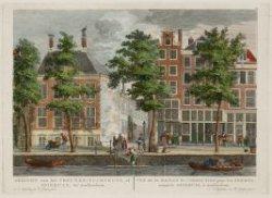 Gezicht van het Vrouwen-Tuchthuys, of Spinhuys, tot Amsterdam