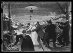 Reproductie naar een schilderij van Johan Braakensiek met een voorstelling van h…