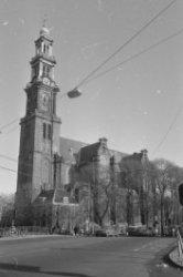 Prinsengracht 279-281, Westerkerk, met rechts de Westermarkt