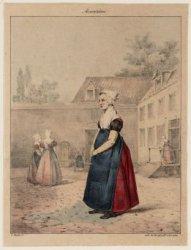 Weesmeisjes op de binnenplaats van het Burgerweeshuis, Kalverstraat 92. Techniek…
