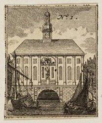 De Beurs van Hendrick de Keyser, gezien vanaf het Rokin. Uit: 'S Waerelds Koopsl…